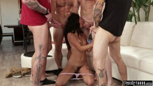 Stepsis throated by stepbro and friends