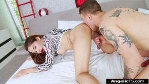 Big tits asian tgirl Anna X bareback guy