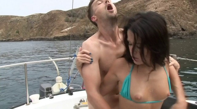 [I'M ENGAGED TO MY FATHER] hot sex - Seductive Young Megan Rain Gets Her Pussy Licked and Fucked by Her Stepdad on a Boat