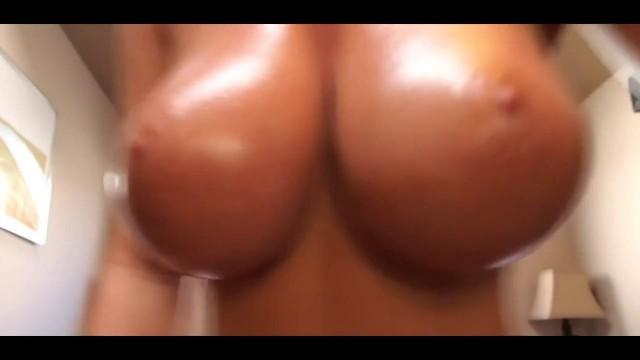 Katee Owen Oils Up Her Amazing Big Boobs ...
