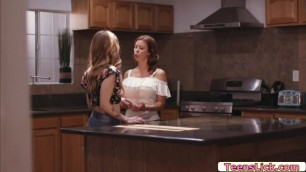 Alexis and Karla does a mess on the kitchen