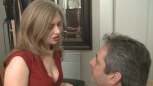 Mistresst Pussy Whipped Cuckold Natural Tits Getting Fucked