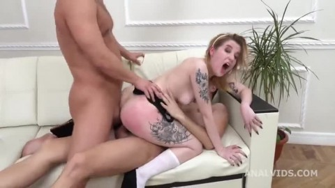My First Dp Lulu 2on1 Balls Deep Anal Manhandle Dp Gapes And Swallow Gl299 Hd Hot Girls Suck Dick