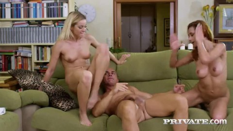 Cherry Kiss Veronica Leal Share Stud In Anal Threesome Hd Cute Pussy