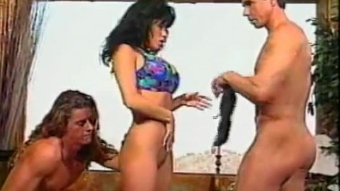 DP Heather Lee and Peter North Retro Gangbang