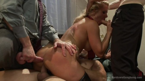 Gangbang. Slut Wife Gets Slammed Into Holly Heart