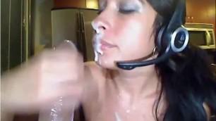 girl suck huge fake cock many sperm