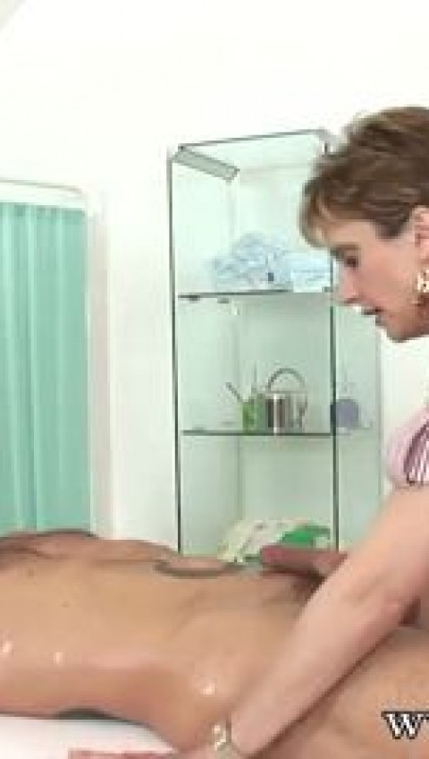 Mom Lady Sonia and Sexy Red Jerk off Big Dick