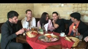 Dudes At Dinner Take The New Girl For A Wild Ride