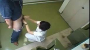 brunette japanese nurses masturbating dick of the patient
