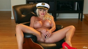 twist ahoy captain cosplay hot blonde milf spencer scott with big tits and ass fucks her shaved pussy