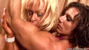 erotic muscular lesbians kissing and licking nipple