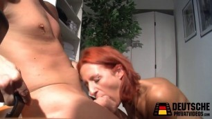 thin german redhead euro babe sucks and fucks big dick