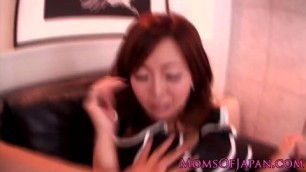 well endowed japanese mom do blowjob and gets shagged