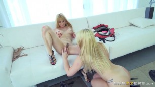 sexy blond jayme langford and jenna ashley fucking pussy and ass big dildo new