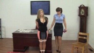bondage lesbians videos with perfect boobs blonde secretary
