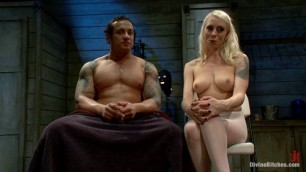 Big tittys girl have rough sex with big dick cowboys