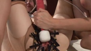 Cute lesbian femdom slave learns obediance bondage BDSM
