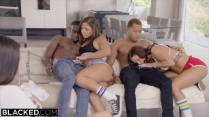 Teen Brunette tight hole Stretched Out By huge dick interracial