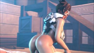 Porn parody of the game Overwatch XXX with Mercy Widowmaker and other
