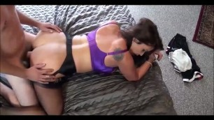 fucked chick in sexy black stockings