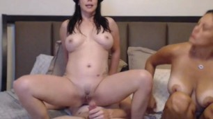 Sexy Babes Having Fun with Mature Guy anal deep fuck