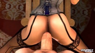 Amazing porn for players Beauty Elizabeth having sex with NPC 3D