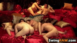 Amateur swinger reality show group oral fucking dick