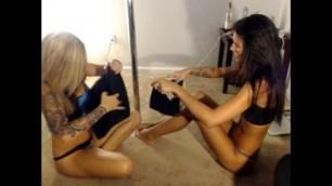 Lez play sexy marvelous lesbians sisters