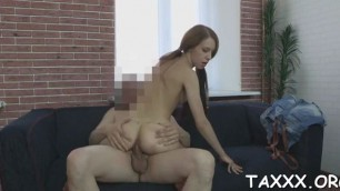That babe Kacy comes for a casting and receives smashed hard