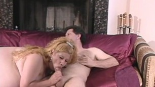 Curvaceous Adel blonde sucks a fat cock and gets drilled hard from behind
