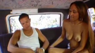 Haley gets on a gangbang bus in order to get her pussy poked