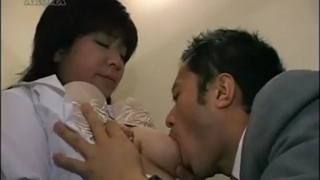 breast feeding A man sucks a Japanese womans breasts and receives milk