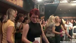 Big hot orgy Sluts fucking in a night club