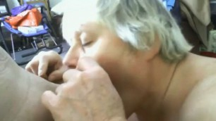 Granny swallows cum And thrusts his cock completely into his mouth
