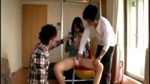 Foxy girlfriend Karin sits legs spread so he can finger and lick