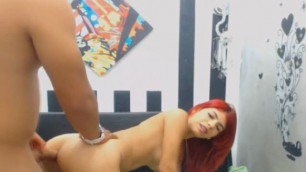 Sizzling Hot Redhead Sucks And Gets Deep Anal Fucked