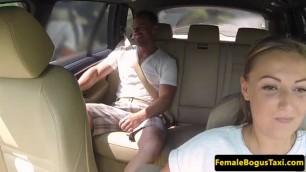 Curvy Lovey dovey euro cabbie pounded on public backseat