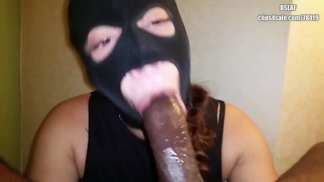 Ms Natural or Mz Natural black mask head Big black cock for her