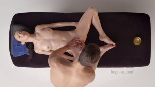 Erotic Flexi Massage Stimulates her wet pussy and brings her to orgasm