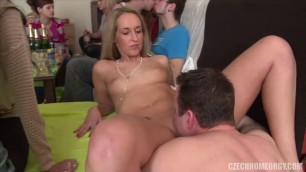 Czech Home Orgy With a lot of alcoholic girls and guys 8 Part 1