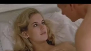 Beautiful Blonde Kelly Preston Nude Couple in bed