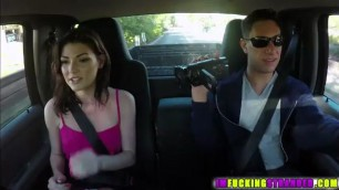 Beautiful and slutty Jessica Rex gets spotted and fucked outdoors