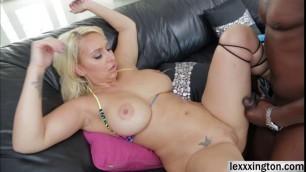 Big assed babe Nina Kayy teases and fucks a black cock